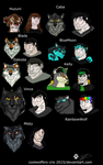 Humanized Coolwolfbro Characters by coolwolfbro