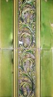 Green Thistle Tile by hydestock