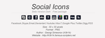 Social Icon Set - Dark version by h3tr1k