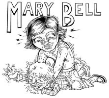 Mary Bell sketch - inked by monertia