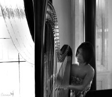 The Harpist by Canankk
