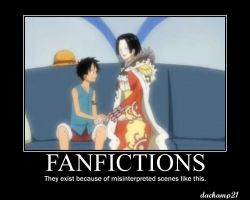 One Piece Poster: Fanfictions3 by dachamp21X