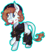 A cute, little, colorful filly by Reporter-Derpy