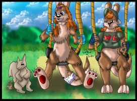 In the  park by wolfcub