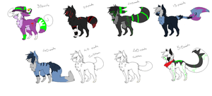 adoptables batch 1 by nero-IQ
