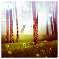 forest of giraffes by sipsic