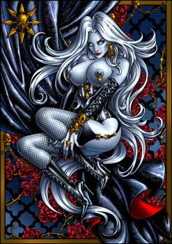 Lady Death Pin-Up color by Candra