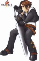 Squall Leonhart Colored by pika-pika-chuu