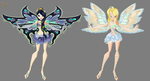 Gift: Eva's and Noire's Enchantix Design by SwallowtailAngel