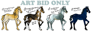 ART BID FOALS OPEN - Winners Announced by daughterofthestars