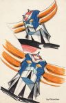 Grendizer's heads by kizzychan