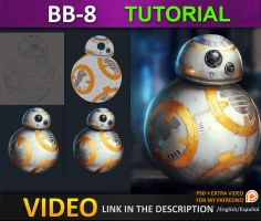 Painting BB8 from starwars force awakens by JesusAConde