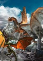 Dragons and Fire by adolo