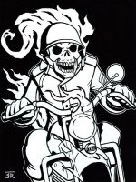 Inktober 2014 Day 26 WWII Ghost Rider by TheRigger