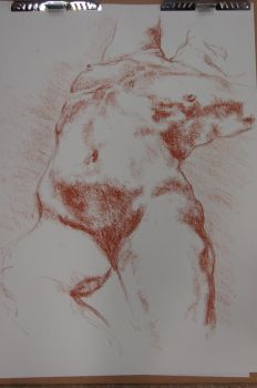 20 min life drawing 2 by f3rr3r