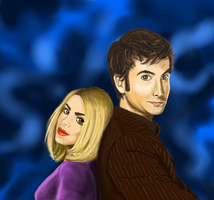 Doctor and Rose Speedpaint by Chimaera-Stormhawk