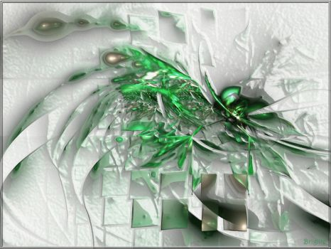 The Green Splash by Brigitte-Fredensborg