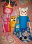 My Needle Felted Finn, Jake, PB and Beemo - Group by CatsFeltLings