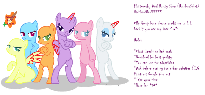 We Are Very Swag Girls ~ Mlp group base by xXRainbow-SplatXx