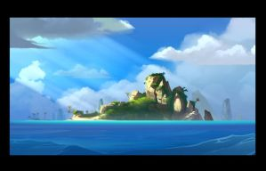 Moon island by cyrilcorallo