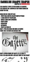 Stenciling Letters Tutorial by Sammo6661Deth