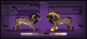 . Atticus Reference sheet . by Armiyn