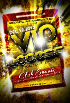 VIP Access PartyFlyer Template by stevisimo