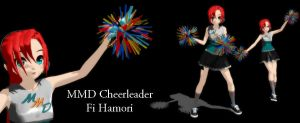 MMD Cheerleader Fi Hamori DL by SachiShirakawa