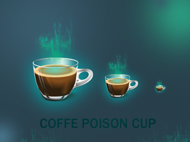 Coffe poison cup icon by okiz