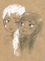 elsa and anna have ruined my life by maybelletea