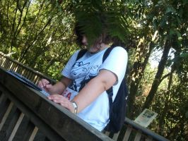 Me drawing at the zoo by delilittle