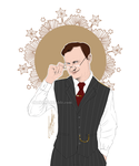 Mycroft - Glasses Office by RedPassion