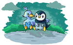 Piplup and Ducklett by DarkCrow3