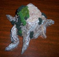 Tree stump with moss accents by Vivienne-Mercier