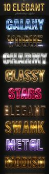 10 Elegant Photoshop Styles Vol.5 by GraphicAssets