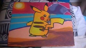 Pikachu painting by Chaoslink1