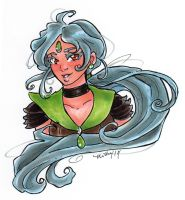 SailorPewter Lime bust for MistressLegato by nickyflamingo