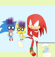 Knuckles and the egg by ecr28