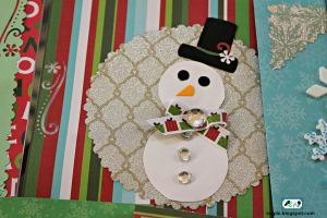 Snowman Christmas Card by SugiAi