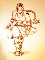 Sumo Woman: Pencils by SHADOBOXXER