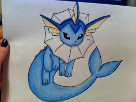 Ursala's Vaporeon- Drawing- Pencils by sazmullium