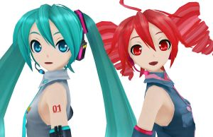 Teto and Miku by Myth-P