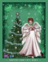 Christmas Fairies Best Wishes by pixievamp