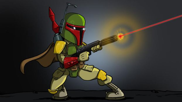 Boba Fett Cartoon Drawing by Jason-Venus