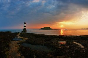 Dawn At Penmon 1 by Grunvald