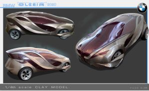 BMW Oleria clay model by sk8nrail