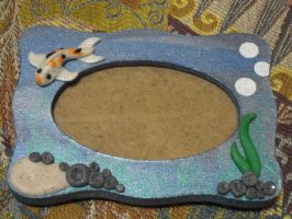 Picture frame: Koi fish by REDDISH-MUSE