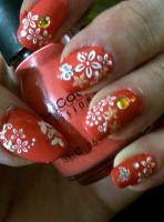 Nailartcoralflower by CarpeComma