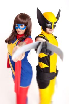 Kamala Khan and Wolverine by Zaira555