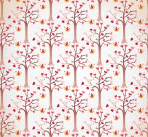Water painting love tree seamless background vecto by FreeIconsdownload